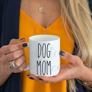 Dog mom - Rae Dunn inspired mug - dog mom mug